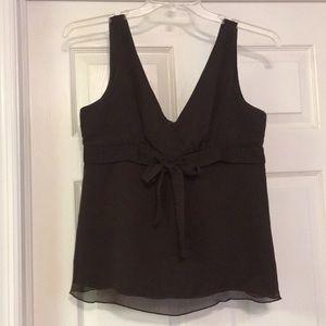 Chocolate brown Gap size M sleeveless blouse